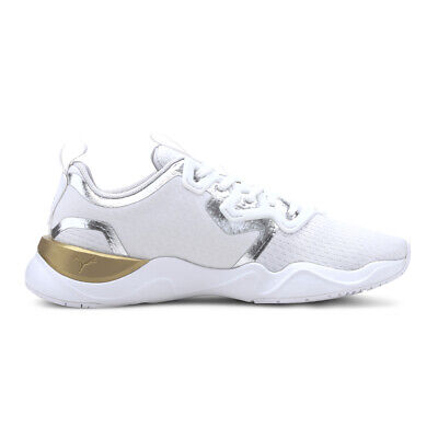 AU88.72 • Buy Puma Women's Zone XT Metal Puma White/Metallic Gold Training Shoes 19303201 NEW