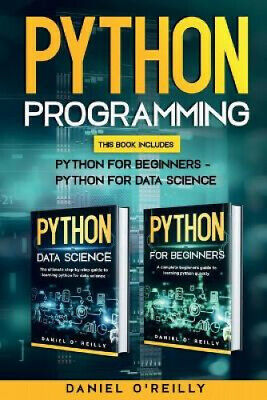 AU38.54 • Buy Python Programming: This Book Includes: Python For Beginners - Python For Data