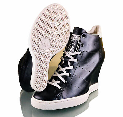 AU252.88 • Buy Adidas Stan Smith Up Black Women's Wedge Trainers Size 8 RARE