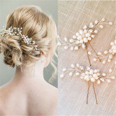 $ CDN2.34 • Buy Bridal Hair Accessories Pearl Flower Hair Stick Pin Wedding Jewelry