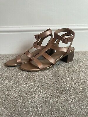 Rose Gold Gladiator Sandles New Look Size 7 • 2.69£
