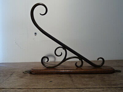 £35 • Buy Antique Stylised Wall Mounted Copper Hook On Oak. Probably For A Gong