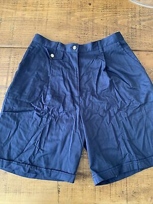 Ladies Tailored Navy Shorts Size 16 • 3£