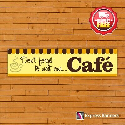 £25.95 • Buy Don't Forget To Visit Our Cafe PVC Banners Garden Centre Display Shop Signage