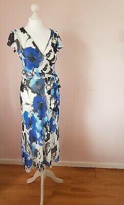 GEORGE Women's Floral Print Midi Dress Size 10 • 1.99£