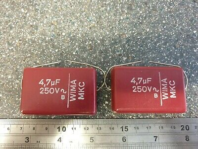AU12.46 • Buy NOS 4.7uF 250V WIMA MKC Capacitor VALVE RADIO 2 X Pieces