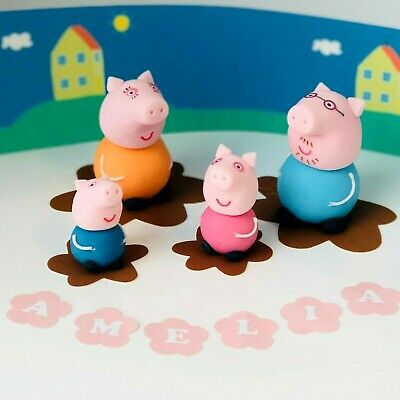 £13.50 • Buy Peppa Pig Cake Toppers EDIBLE Decoration Personalised Birthday Unofficial Icing