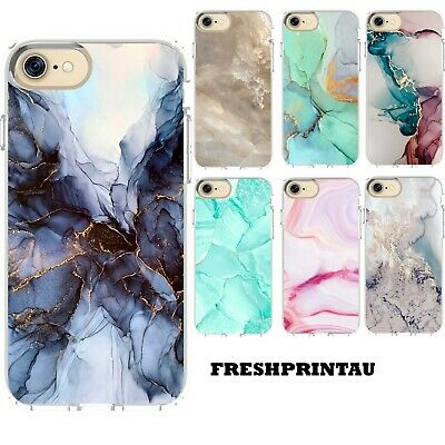 AU16.99 • Buy Silicone Case Cover Marble Print Colourful Hues Unique Patterns 2D Designs Rose