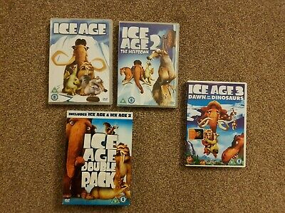 3 DVDs - Ice Age - 2 Disc Set (Ice Age & Ice Age 2) + Ice Age 3 • 2.50£