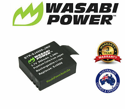 AU21.95 • Buy Wasabi Power Battery For SJCAM M10, SJ4000,4K Action Cameras And More