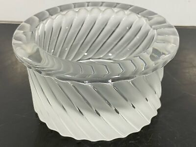 LALIQUE France Frosted Textured Art Glass Ashtray Bowl • 7.09£