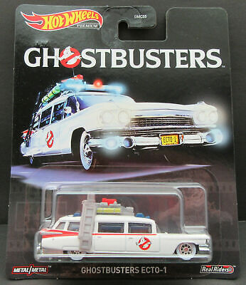 HOT WHEELS Ghostbusters ~ Ecto-1 ~ Real Riders 1:64 Scale ~ NEW • 10.77£