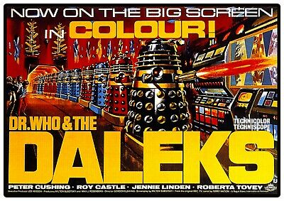 £6.99 • Buy Dr Who And The Daleks Cult Movie Reproduction Poster Print Peter Cushing Retro