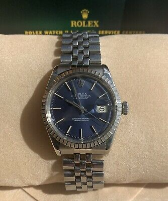 $ CDN3976.24 • Buy Rolex DateJust Vintage 1601 S/Steel Blue Dial,White Gold Bezel Automatic Men's