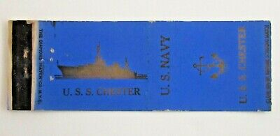 £3.95 • Buy Vintage WW2 US Navy Matchbook Cover U.S. S. CHESTER Fc9b