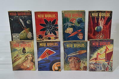 £63.92 • Buy New Worlds. Fiction Of The Future Science Fiction Magazine Bundle 1951 / 1952 X8