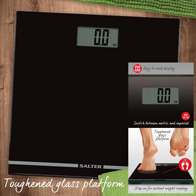 Salter Large Display Glass Electronic Bathroom Scale Accurat Body Weighing 180kg • 14.99£
