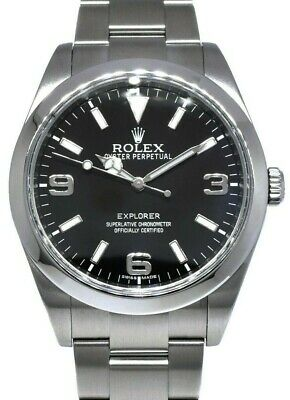 $ CDN10666.43 • Buy Rolex Explorer Stainless Steel Black Dial Mens 39mm Watch Box/Papers 214270