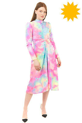 AU90.28 • Buy RRP €1050 SIES MARJAN A-Line Dress Size 4 / S Tie Dye Glittered Made In Italy