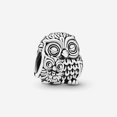 £8.41 • Buy Mother Ow & Baby Owl Charm Genuine 925 Sterling Silver & Gift Pouch