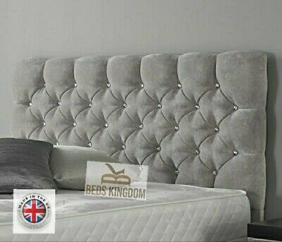 Upholstered Bed Headboard New Design In Soft Plush Fabric DIY Easy Fix 20   • 34.99£