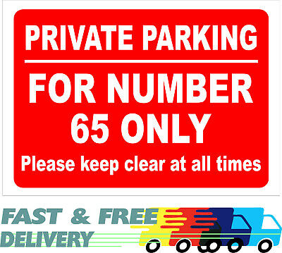 £7.55 • Buy Personalised Parking Sign Private Parking – Your Details