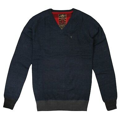 Official Ringspun Mens  - Raleigh - Knit Jumper - Navy • 9£