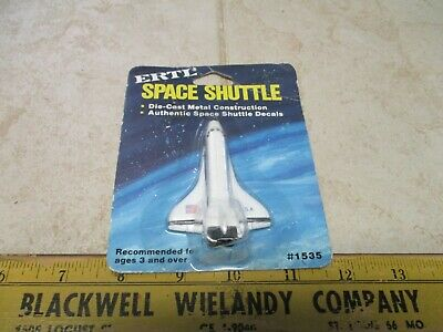 VTG NOS Ertl Space Shuttle Diecast Vehicle Toy 1535 New On Card • 7.20£