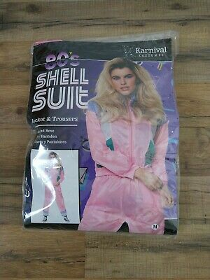 AU20.75 • Buy 80s Height Of Fashion Shell Aerobic Workout Suit Costume Pink Size Medium New