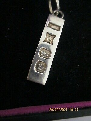 A Lovely Sterling Silver Ingot - Pendant ,1978 On A Silver .925 Chain 40 Cm • 58.50£