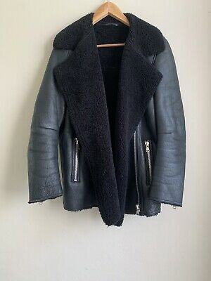 AU950 • Buy Scanlan Theodore Leather Shearling Jacket Size SM