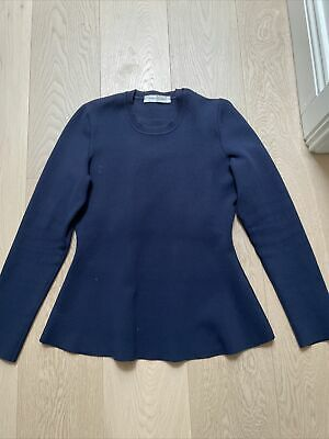 AU59.99 • Buy Scanlan And Theodore Crepe Knit Peplum Sweater/top