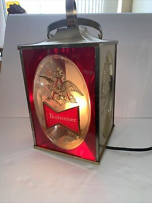$ CDN75.76 • Buy Vintage BUDWEISER Lighted 4 Sided Hanging Bar Beer Advertising Sign