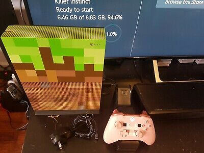 AU450 • Buy Xbox One S 1TB Mincraft Edition + Wireless Pig Controller + Charger
