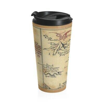 Hobbit Map Stainless Steel Travel Mug, Lord Of The Rings • 24.63£