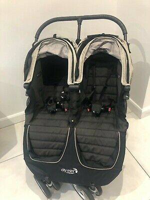 Baby Jogger City Mini Double Pushchair - Black • 90£