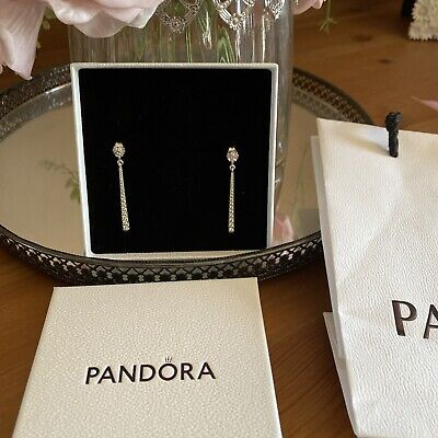 Pandora Sparkling Drop Earrings New In Box MOTHERS DAY • 50£