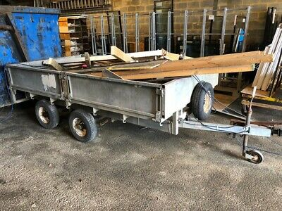Ifor Williams Galvanised Flat Trailer With Drop Sides And Loading Ramps • 410£