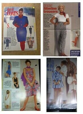 JOB LOT - 4 LADIES DRESSMAKING MAGAZINE PATTERNS (pack E5) • 1.50£