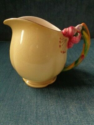 $ CDN20 • Buy  ROYAL WINTON GRIMWADES YELLOW TIGER LILY CREAMER W Gold Trim