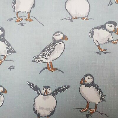 £8.89 • Buy Atlantic Puffin Mineral Cotton PVC Fabric WIPE CLEAN Tablecloth Oilcloth