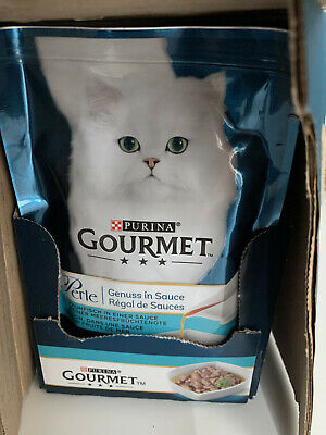 Purina Gourmet Perle Gravy Delight Tuna In A Seafood Flavour - 85g Pouches  X 21 • 14.99£