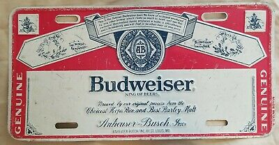 $ CDN69.64 • Buy Budweiser Vintage King Of Beers Anheuser Busch License Plate Metal Sign