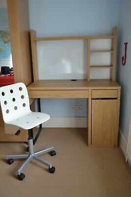 IKEA Micke Desk With Shelves And Chair • 19.99£