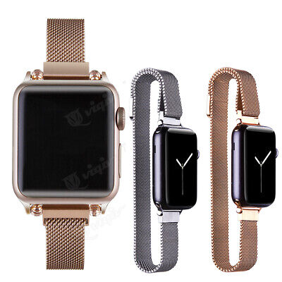 AU15.63 • Buy 14mm Milanese Loop Watch Band Straps For Apple IWatch Series 6/5/4/3/2/1 SE