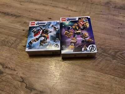 Lego Marvel Avengers Classic Thanos Mech Building Set - 76141 And 76169 • 15£