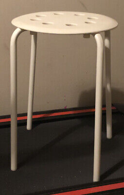 Ikea Stool. White. Height 18 Inches • 0.99£
