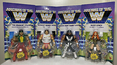 $129.99 • Buy WWE MOTU Masters Of The Universe Wave 5 Complete Set Of 4 Macho Man, The Dragon