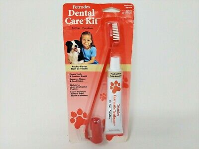 SENTRY PETRODEX Dental Care Kit For Dogs, Poultry Flavor, Removes Plaque, New • 7.88£