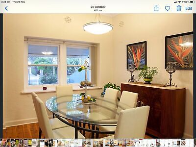 AU220 • Buy Freedom Furniture Glass Dining Table And Chairs.  As New.
